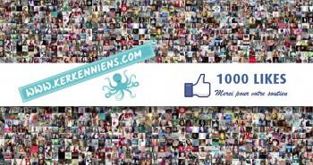 1000 portraits pour vous remercier Kerkenniens.com - 1000 Likes Facebook Merci