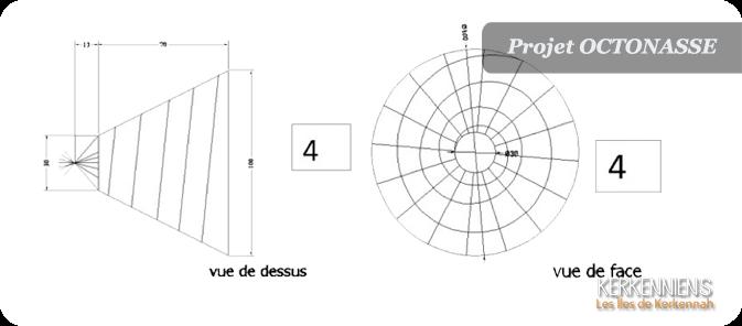 15 nasses divisées sur les 8 entrées Projet octonasse