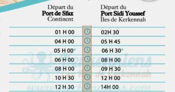 Horaires du Battah (bac) à partir du 22 mai 2017 de Kerkennah (Sfax Kerkennah) Ramadan 2017