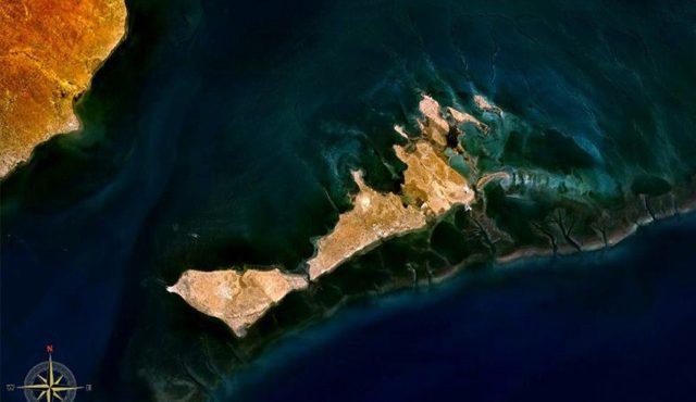 Les îles de Kerkennah vue de la NASA