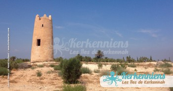 Fort de Mellita au milieu des oliveraies Kerkennah (île de Gharbi Tunisie)