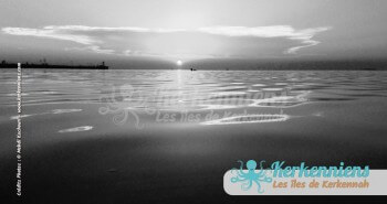 Kerkennah au coucher du soleil baie de sidi Fredj Kerkennah Tunisie