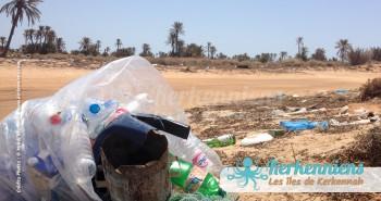 L'empreinte de l'homme arrogant, paysage de désolation - Kerkennah (Tunisie)
