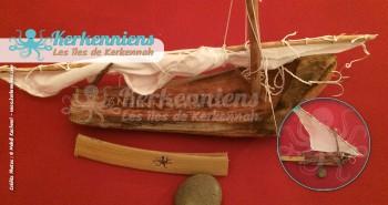 fourka fixée à la garnef et voile pliée