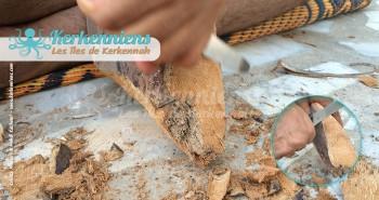 spathe Garnef commencer à sculpter Garnef pour donner vie à une flouka