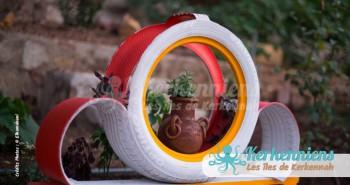 Recyclage pneu sculpture