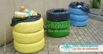 Recyclage pneu poubelle usa