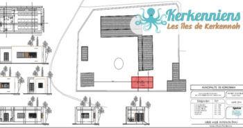 Plan de situation et d'aménagement du projet École Primaire de Ouled Yaneg Projet de construction d'une cantine scolaire