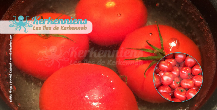 Recette de cuisine Spaghettis aux crevettes les 4 tomates