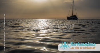 Coucher de soleil bateau Kerkena Kerkennah juin 2016 - Pierre Gassin