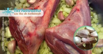 Lentilles (A3dass) fondantes à l'agneau recette cuisine souris d'agneau et ails en robe des champs