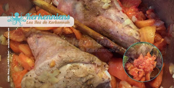 Lentilles (A3dass) fondantes à l'agneau recette cuisine tomates fraiches