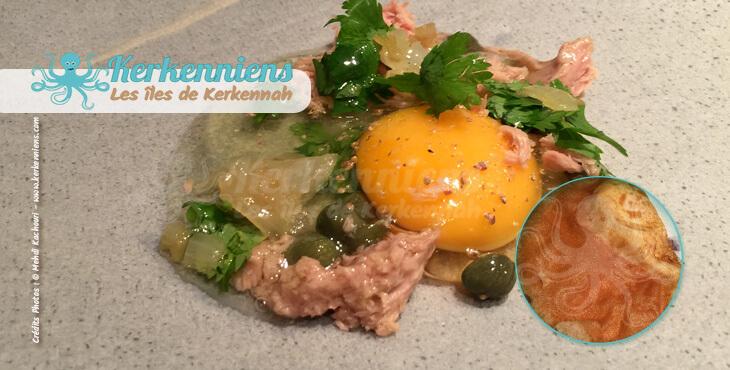 les bricks à l'œuf recette de cuisine la brick à l'œuf aux thon et câpres et coriandre fraiche