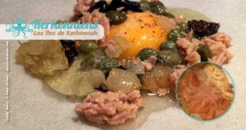 les bricks à l'œuf recette de cuisine la brick à l'œuf aux olives noir oignon confits câpres et thon