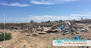 Tas de déchets déchetterie propreté vue par Kerkennah