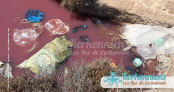 Mare chimique dans la sebkha propreté vue par Kerkennah