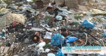 Autre zoom pollution déchets et désastre écologique propreté vue par Kerkennah