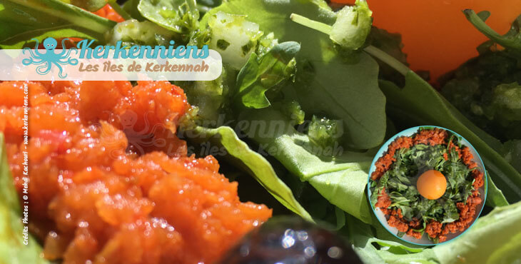 Omek Houria et avec du Beurre de piment aux feuilles de coriandre fraiche recette de cuisine