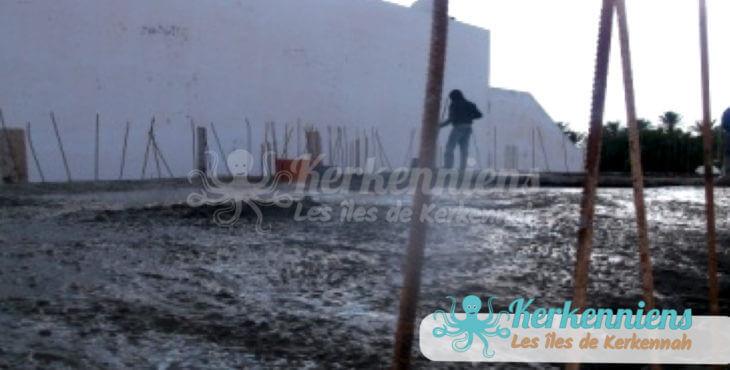 Coulée de la dalle cantine scoclaire de Ouled Yaneg