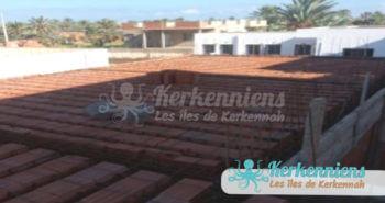 Prémisse de la toiture de cantine scoclaire de Ouled Yaneg