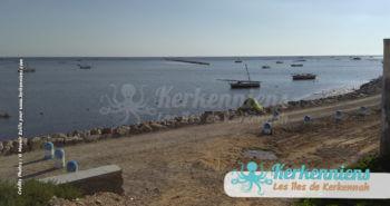 Corniche et voie piétonne à Ouled Yaneg Kerkennah