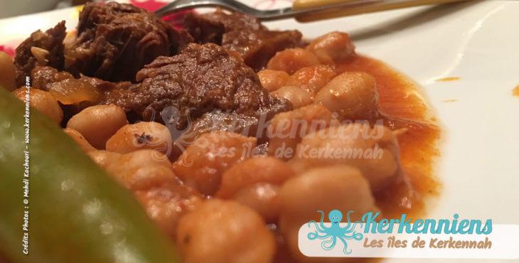 Mermez Tunisien : Pois chiches à la viande et aux épices