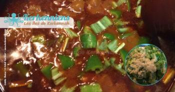 Ajout piment vert et ail pour le couscous bel besbès et chouabi la recette de cuisine