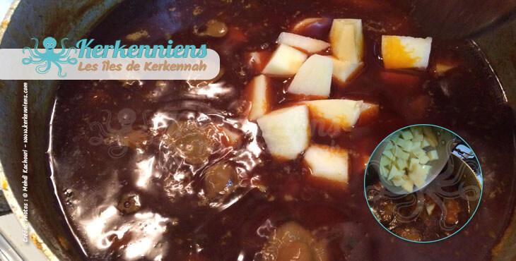 Ajout pomme de terre pour le couscous bel besbès et chouabi la recette de cuisine