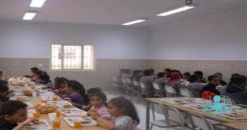 Premier repas servi aux élèves – Construction d'une cantine scolaire SOURIRES D'ENFANTS – Fin des travaux
