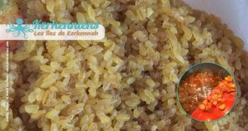 Recette de cuisine Market Khodhra bel Karnit Borghol rincer le boulghour