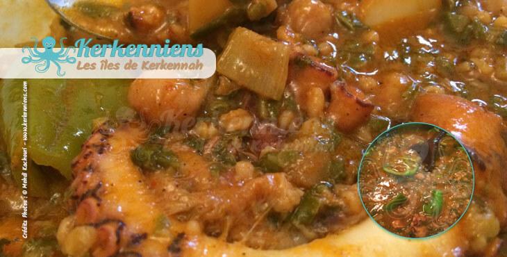 Recette de cuisine Market Khodhra bel Karnit Borghol plat