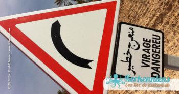 Petrofac Tunisie Kerkennah Zone Sidi Frej virage dangereu virage dangereux Zone touristique