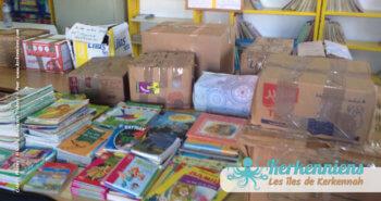 collecte généreuses auprès de nombreux donateurs, bibliothèque Ouled Yaneg, Kerkennah