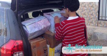 Départ des livres collectés pour Kerkennah bibliothèque Ouled Yaneg, Kerkennah