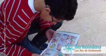 Lecture dévorante bibliothèque Ouled Yaneg, Kerkennah