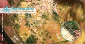Mélanger thon persil fromage recette de cuisine tajine au thon tunisienne