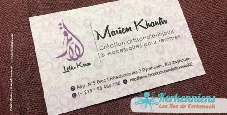Mariem Khanfir Lella Kmar création artisanale de bijoux et accessoires Kerkenniens