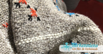 Tarf en laine avec point Kerkennien