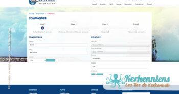 Étape 1 vous authentifier - Réservation du bateau pour votre véhicule Sfax Kerkennah SONOTRAK