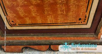 Bas du coffre, coffre en bois ancien, Sandouk