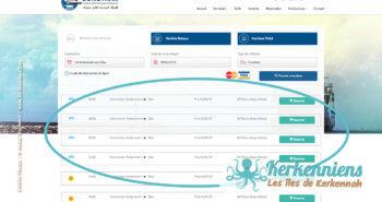 Choisir votre date et heure de départ et retour - Réservation du bateau pour votre véhicule Sfax Kerkennah SONOTRAK
