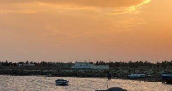 Coucher de soleil village Ouled Bou Ali Kerkennah