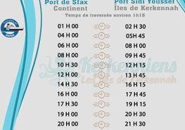 Horaires du bac Sfax Kerkennah SONOTRAK du 23 au 31 août 2018