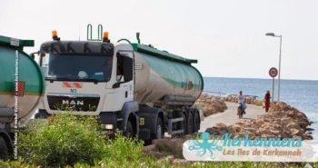 Transport gazier zone touristique de Sidi Fredj Kerkennah devant l'hôtel Cercina