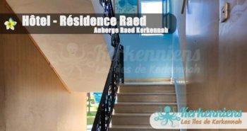 Escalier accès chambres Hôtel – Résidence Raed Kerkennah (Ramla)