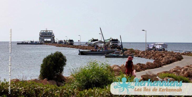 Jetée hôtel Cercina et baie de Sidi Fredj zone touristique Kerkennah