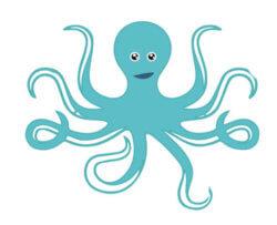 Kerkenniens.com logo octopus