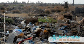 Un amoncellement de déchets (Kerkennah - Tunisie)