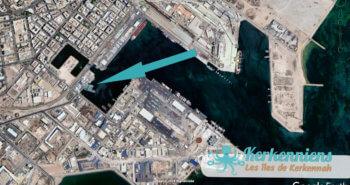 Le bassin fermé des Louds en bas à gauche de sfax (Tunisie) Google Earth