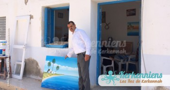 Ahmed Neji Souissi devant son atelier El Maghaza